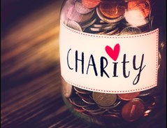Charity donation jar 2